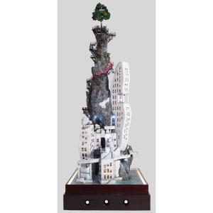 絶壁月見台 弐號棟(2ごうとう) :山尾比呂士 塗装済完成品 1/150サイズ|sakatsu
