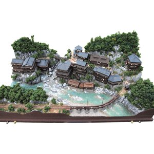 温泉郷の電気軌道セクション :山尾比呂士 塗装済完成品 1/150サイズ|sakatsu