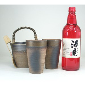 豪華酒器セット 陶芸作家 安藤嘉規作(芋焼酎 海童 720ml)焼酎ギフト|sake-gets
