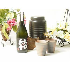 焼酎サーバーセット豪華版(芋焼酎 結 720ml)福袋 贈物焼酎ギフト!|sake-gets