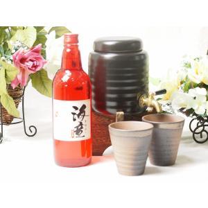 焼酎ギフト 焼酎サーバー豪華セットA3(祝の赤 黒麹造り芋焼酎720ml)福袋|sake-gets