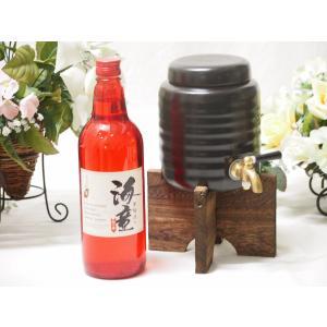 焼酎サーバー豪華セットA3(祝の赤 黒麹造り芋焼酎720ml)|sake-gets