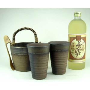 豪華酒器セット 陶芸作家 安藤嘉規作(麦焼酎 夢のひととき 720ml)焼酎ギフト|sake-gets