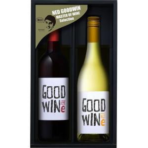 贈り物 GOODWINe グッドワイン(カベルネ&シラーズ赤、ピノグリージョ白)750ml×各1)バレンタイン|sake-gets