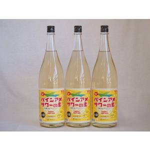 パインアメサワーの素 甘酸っぱくジューシーパイナップル果汁 25度 中野BC(和歌山県)1800ml×4|sake-gets