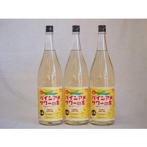 パインアメサワーの素 甘酸っぱくジューシーパイナップル果汁 25度 中野BC(和歌山県)1800ml×6|sake-gets