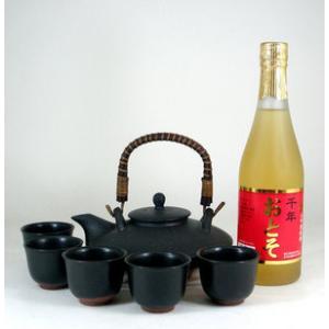 黒千代香セット5客ツル付(還暦限定 お屠蘇酒 500ml )|sake-gets