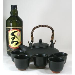 黒千代香セット5客ツル付本格芋焼酎 小正酒造 小鶴 くろ 25度 720ml  B4焼酎ギフト|sake-gets