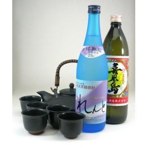 黒千代香5客ツル付  限定品  (奄美黒糖焼酎2本セット)喜界島・れんと 720ml|sake-gets