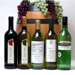 ワインセット 赤ワイン 白ワイン 高品質ワイン5本(白4本、赤1本) 750ml×5本|sake-gets