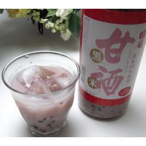 篠崎 国菊甘酒 黒米 あまざけノンアルコール 900ml|sake-gets