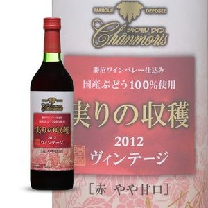 シャンモリ ヴィンテージ実りの収穫 赤ワイン720ml|sake-gets