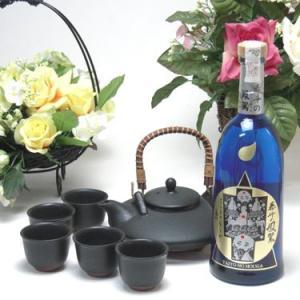 黒千代香セット5客ツル付(京屋酒造 本格そば焼酎 泰斗(たいと)の鳳駕(ほうが) 25度 720ml(宮崎県))焼酎ギフト|sake-gets