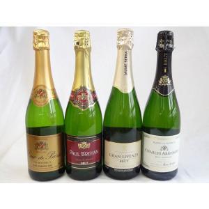 ワインセット セレクション世界のスパークリングワイン飲み比べ4本セット!(スペイン、フランス3本)スパークリング白ワイン750m|sake-gets