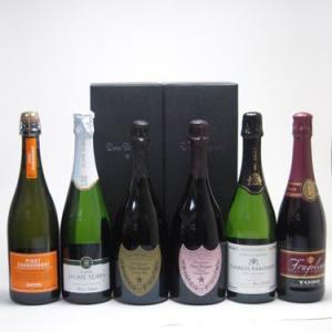 ワインセット ドンペリ飲み比べ6本セット(ドン ペリニヨン ロゼ、ドンペリニヨン白、+世界の厳選スパークリングワイン(辛口3本、|sake-gets