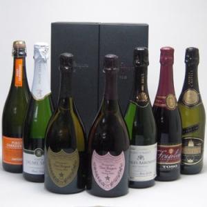ワインセット ドンペリ飲み比べ7本セット(ドン ペリニヨン ロゼ、ドンペリニヨン白、+世界の厳選スパークリングワイン(辛口4本、|sake-gets