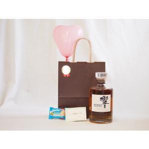 お誕生日 サントリー ウイスキー JAPANESE HARMONY 響 43度 700ml  メッセージカード ハート風船 ミニチョコ付き|sake-gets