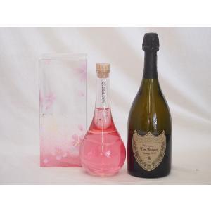 正規ドンペリと中野BC Blossom ブロッサムさくら梅酒 500ml 2本セット  母の日 父の日|sake-gets