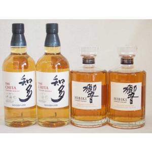 響JAPANESE HARMONY シングルモルト2本と知多 サントリーウイスキー シングルグレーン...