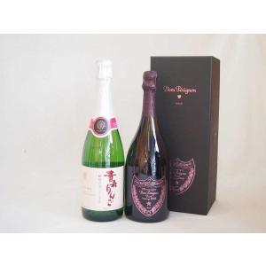 正規ピンクのドンペリと酵母の泡シードル青森県産林檎(やや甘口)750ml 2本セット  母の日 父の日|sake-gets