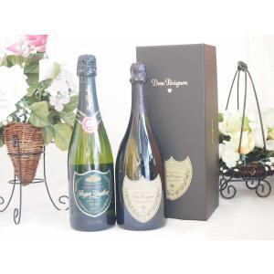 正規ドンペリ白とロジャーグラート グラン キュヴェ ジョセップ ヴァイス750ml 計2本セット|sake-gets