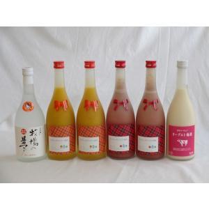 焼酎×たっぷりリキュール6本セット ミルクたっぷりいちごの梅...