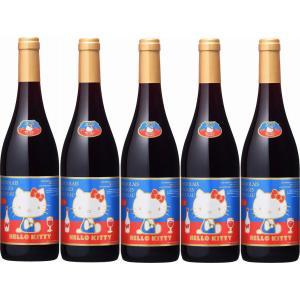 2020年解禁5本ラストハローキティー ボージョレ・ヴィラージュ・ヌーヴォー赤ワイン750ml×5本(ボジョレヌーボ)盛田甲州ワイナリー|sake-gets
