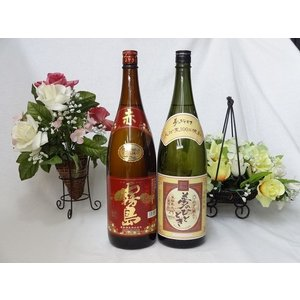 じざけや限定 井上酒造 熟成麦焼酎 夢のひととき 25度 1800mlと霧島酒造 芋焼酎 赤霧島 1800ml|sake-gets