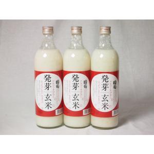 篠崎 国菊甘酒 発芽玄米 あまざけノンアルコール 985g×3本(福岡県)|sake-gets