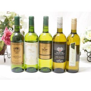 キャッシュレス5%還元 ソフトバンク優勝セール! セレクション 白ワイン 5本セット ( フランスワイン 3本 イタリアワイン 2本)計750ml×5本お歳暮 クリスマス|sake-gets