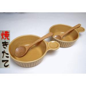 片手ベージペアセット(グラタン14)木製スプーン付|sake-gets