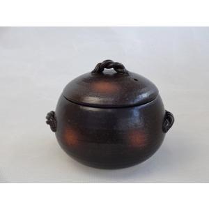 日本製萬古焼き みすずの 栗形 ごはん鍋 3合(三鈴窯日本製万古焼き)|sake-gets