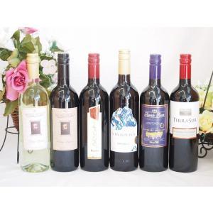 ワインセット 優勝セールセット セレクション赤ワイン5本 白ワイン1本セット 750ml×6本 sake-gets