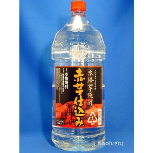 ひむか寿 赤芋仕込み (あかいもしこみ) 本格芋焼酎 20度 4000mlペット 宮崎県 寿海酒造|sake-izawa