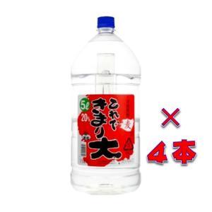 これできまり大 20° 本格麦焼酎 5000ml 1ケース(4本入り)ペットボトル 鹿児島県 若松酒造|sake-izawa