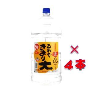 これできまり大 25° 本格むぎ焼酎 5000ml 1ケース(4本入り) ペットボトル 鹿児島県 若松酒造