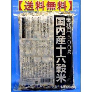 国内産十六穀米 業務用500g 種商(クロネコDMメール便発送、到着日時指定不可・全国送料無料)|sake-izawa