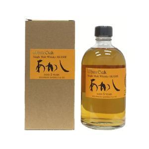 江井ヶ嶋酒造 あかし 5年 シングルモルトウイスキー バーボンバレル 50度 500ml|sake-ninja