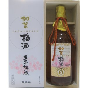 石川県・小堀酒造店 加賀梅酒 五年熟成 萬歳楽 720ml瓶 桐箱入り [あすつく]|sake-nishida