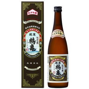 新潟県:越後鶴亀 純米吟醸 720ml瓶 箱入り [日本酒]あすつく|sake-nishida