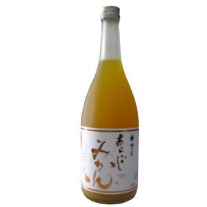奈良県梅乃宿酒造謹製 あらごしみかん 720ml瓶 (要冷蔵)|sake-nishida