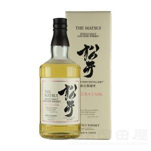 お歳暮 松井 サクラカスク ジャパニーズ ウイスキー 700mlギフト 宅飲み 家飲み|sake-okadaya