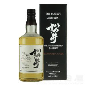 お歳暮 松井 ミズナラカスク  ジャパニーズ ウイスキーー 700mlギフト 宅飲み 家飲み|sake-okadaya