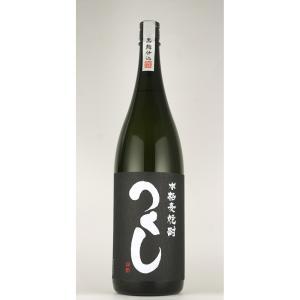 お歳暮 つくし 黒 黒麹仕込 麦焼酎 1800ml|sake-okadaya