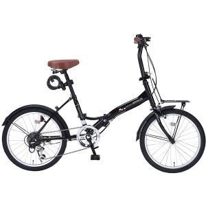 マイパラス M-209OSII-BK ブラック 折りたたみ自転車(20インチ・6段変速) メーカー直送の画像
