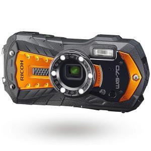 RICOH WG-70 オレンジ コンパクトデジタルカメラ (1600万画素) sake-premoa