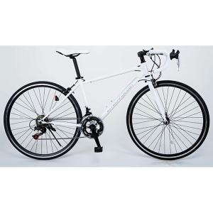 21Technology 700C ホワイト ロードバイク(700×28C・14段変速) メーカー直送|sake-premoa