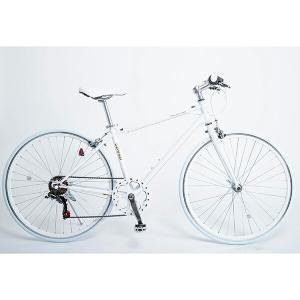 21Technology CL266 ホワイト クロスバイク(700×28C・6段変速) メーカー直送|sake-premoa