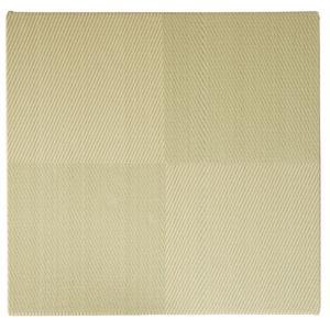 萩原 水拭きできる い草風 置き畳 市松模様 82×82×2.5cm グリーン メーカー直送|sake-premoa
