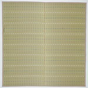 萩原 81957701 和室の静かな佇まいと落ち着いた空間にピッタリのい草ラグ 琴の音 191×191 ブルー メーカー直送|sake-premoa